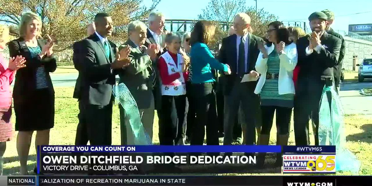 Columbus community celebrates completion of 'Follow Me' Trail and dedicates new bridge over Victory