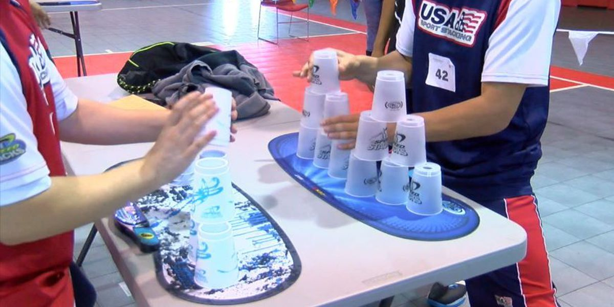 Girls Inc. hosts cup stacking tournament