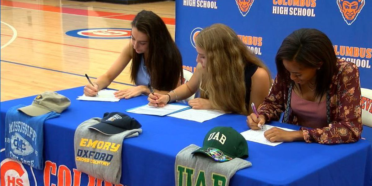 Three Columbus High athletes sign letters of intent