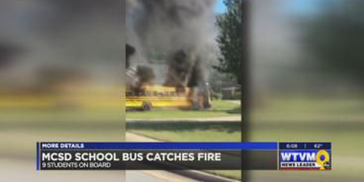 No injuries reported after Muscogee Co. bus catches fire with 9 students aboard
