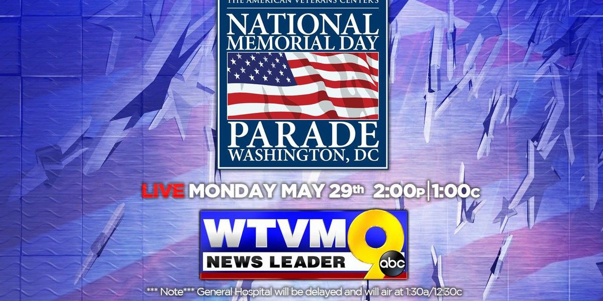 News Leader 9 to air the 'National Memorial Day Parade'