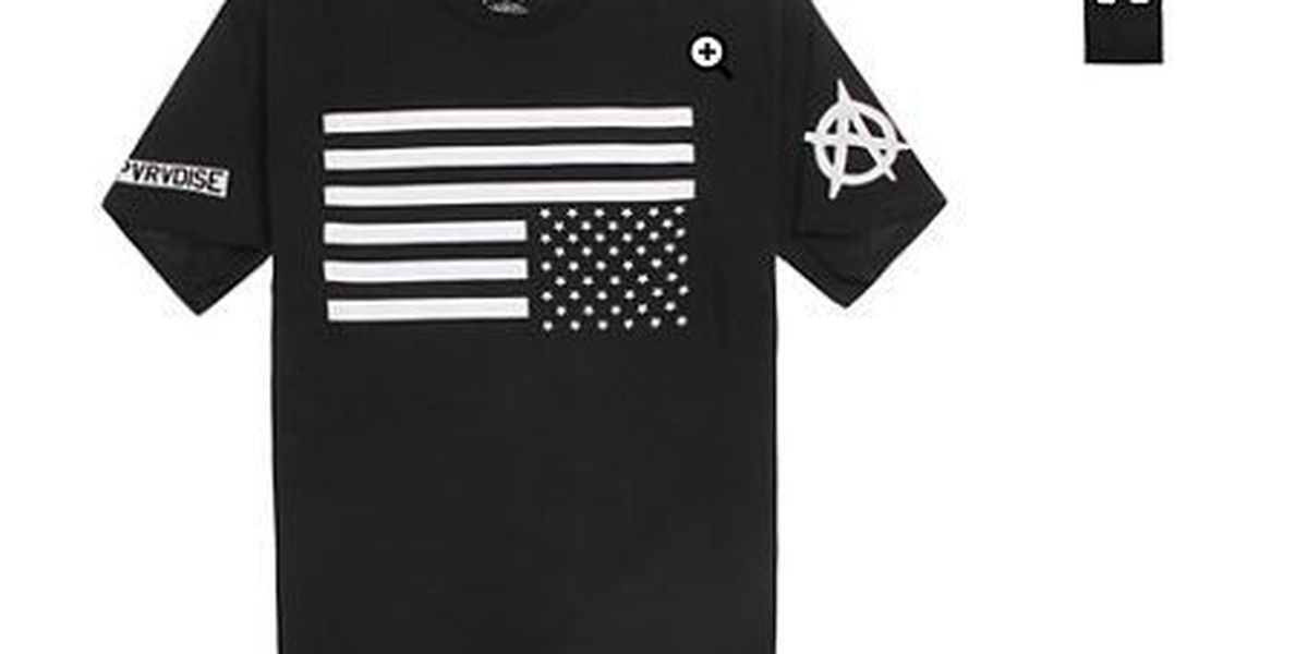 PacSun responds following social media backlash of upside-down flag t-shirt