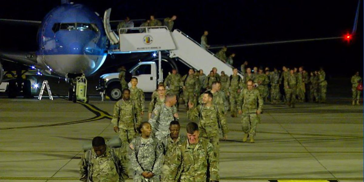 Specialized medical soldiers return home after Puerto Rico relief efforts