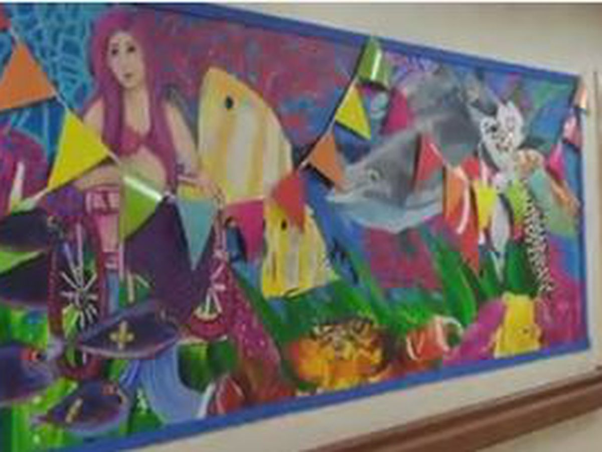 AU students create mural for EAMC pediatic unit