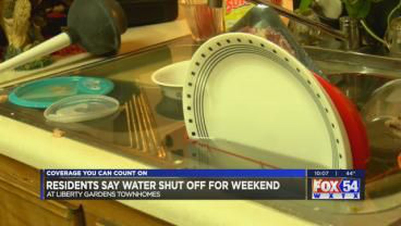 residents at liberty garden townhomes without water on new years eve - Liberty Garden