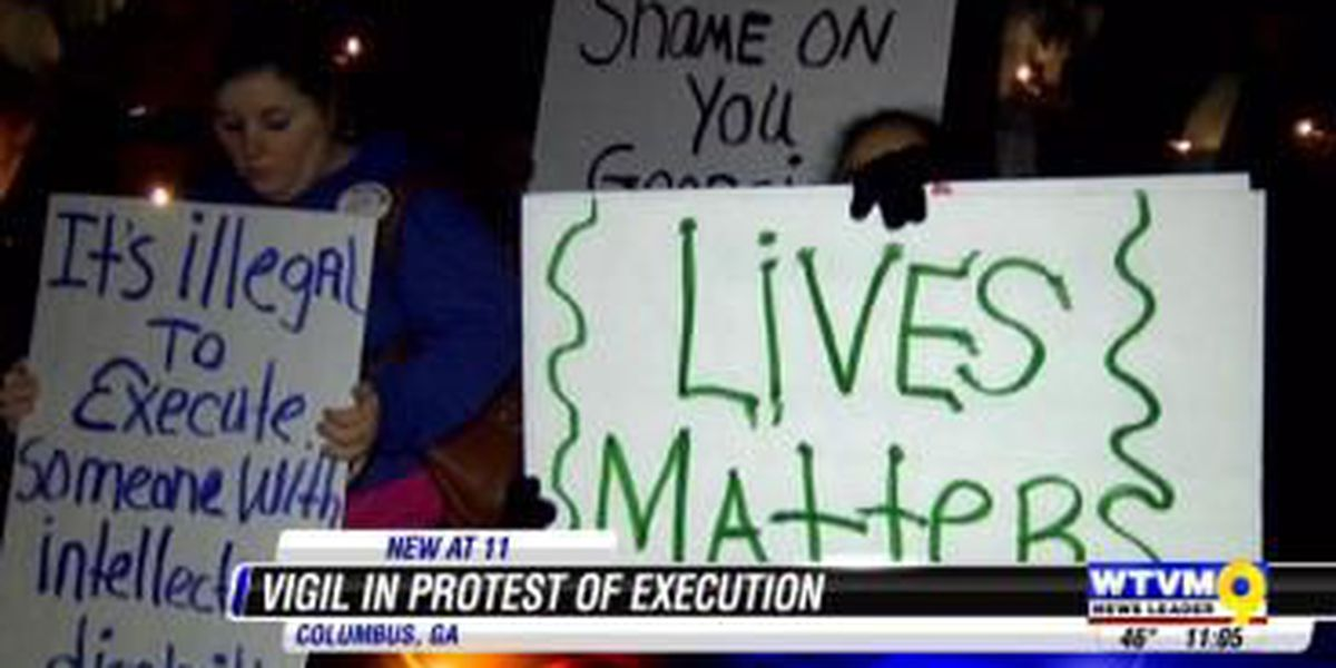Columbus NAACP hosts vigil in protest of execution