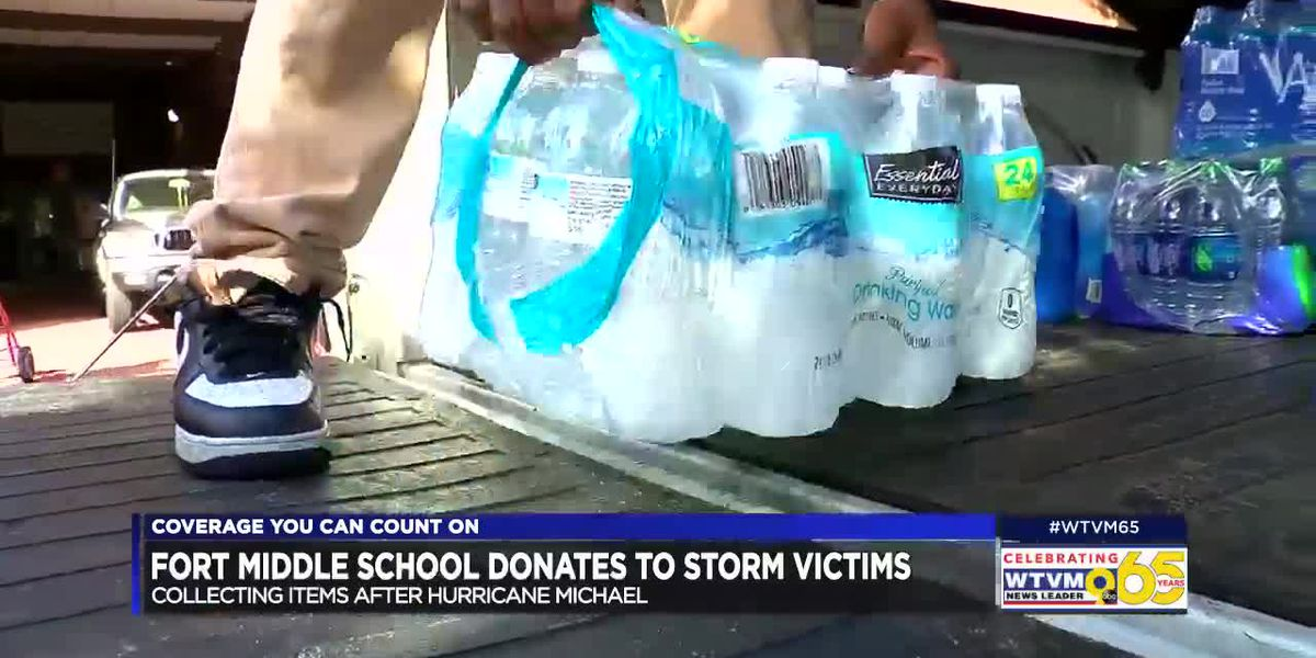 Columbus middle school providing aid to Hurricane Michael victims