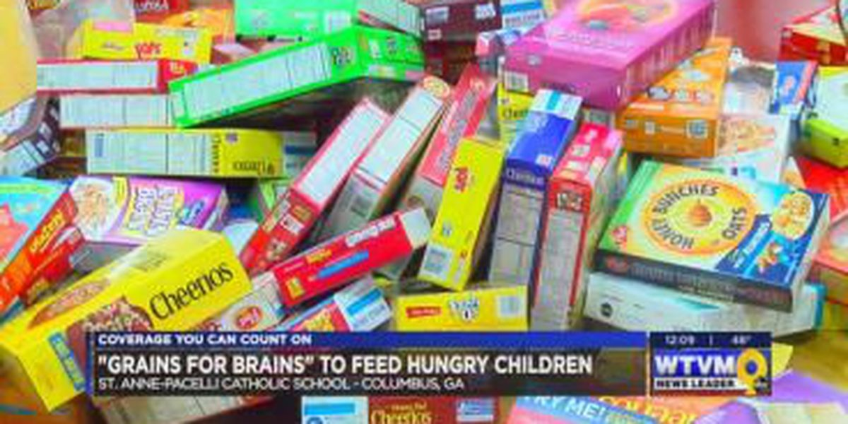 St. Anne-Pacelli students help fight childhood hunger