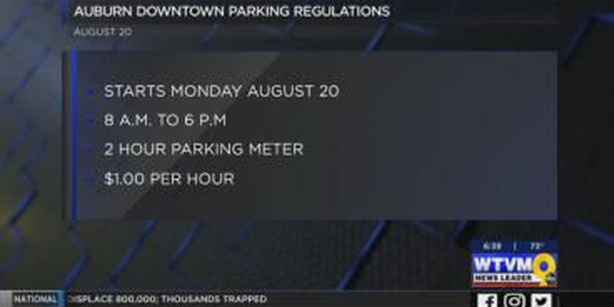 VIDEO: Parking changes come to downtown Auburn ahead of new school year