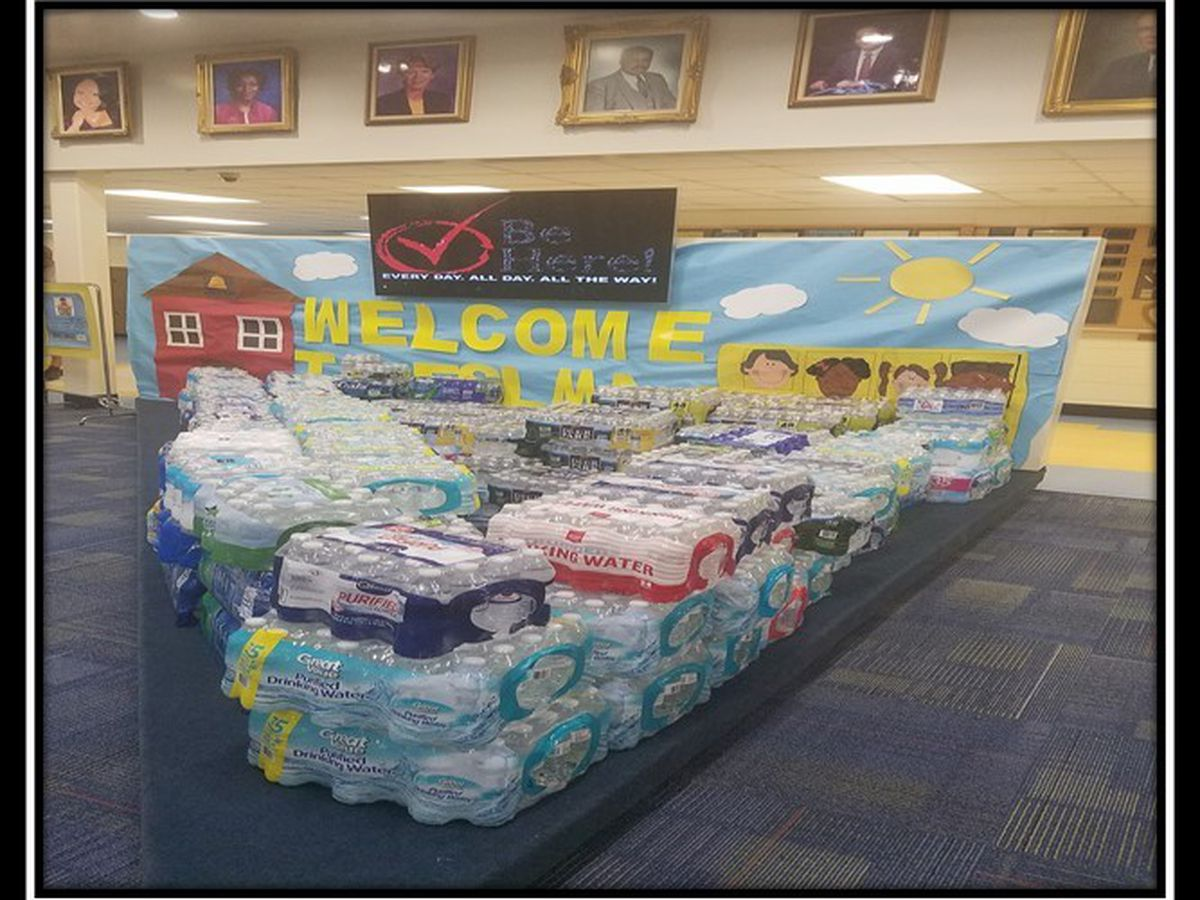 "Fort Service Learning Magnet Academy holds ""Fill the Pit"" water donation for Hurricane Michael victims"