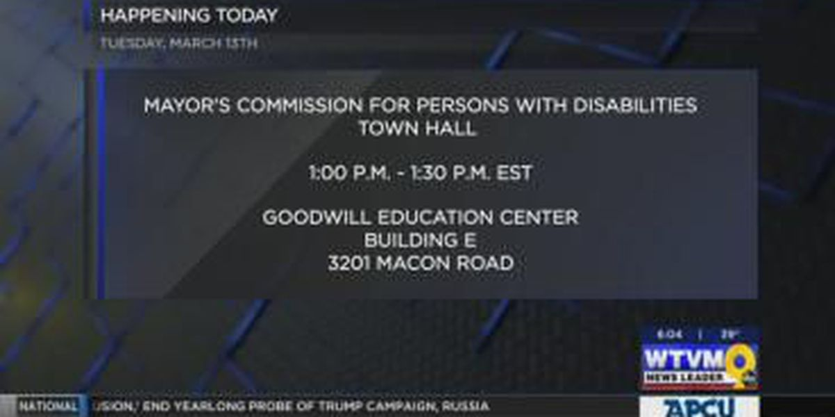 Mayor's Commission for Persons with Disabilities holds town hall meeting