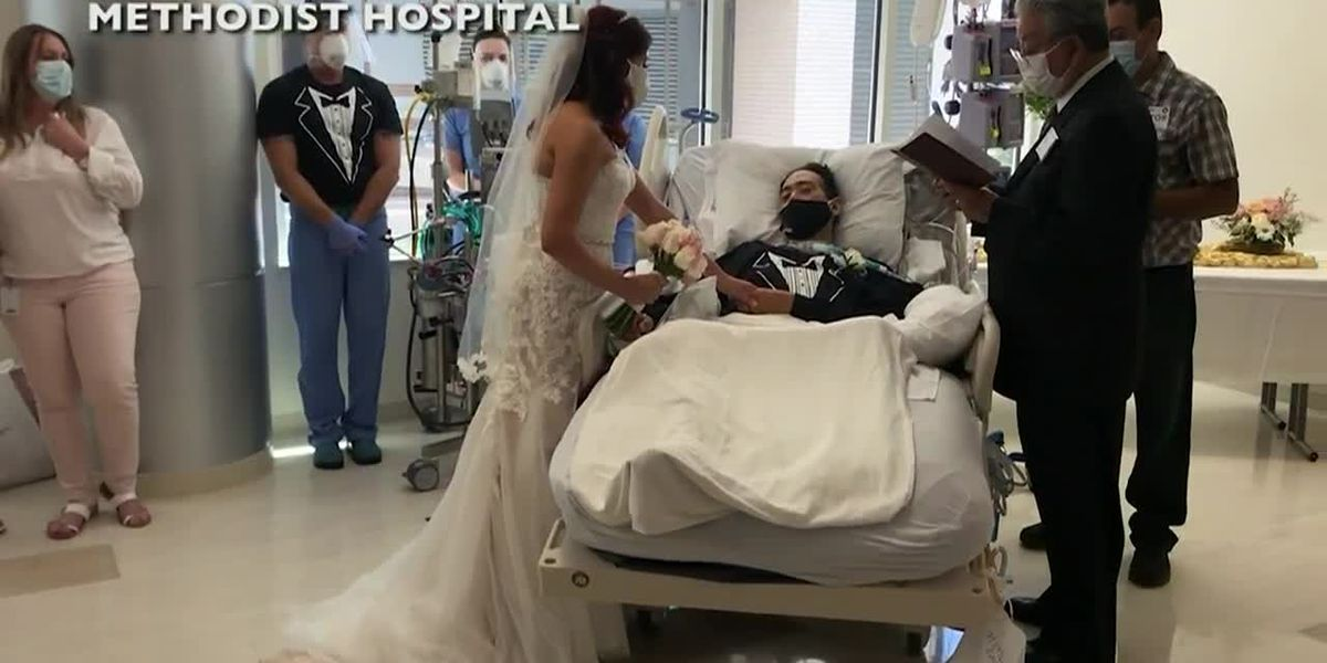 Hospital staff hosts wedding ceremony for COVID-19 patient