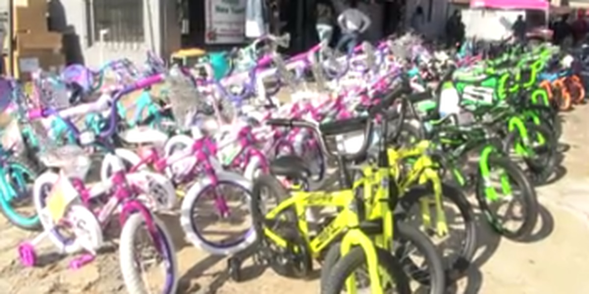 Several organizations come together for toy and bike giveaway in Phenix City
