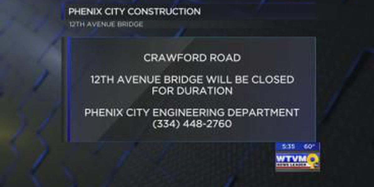 Phenix City bridge to be closed for replacement
