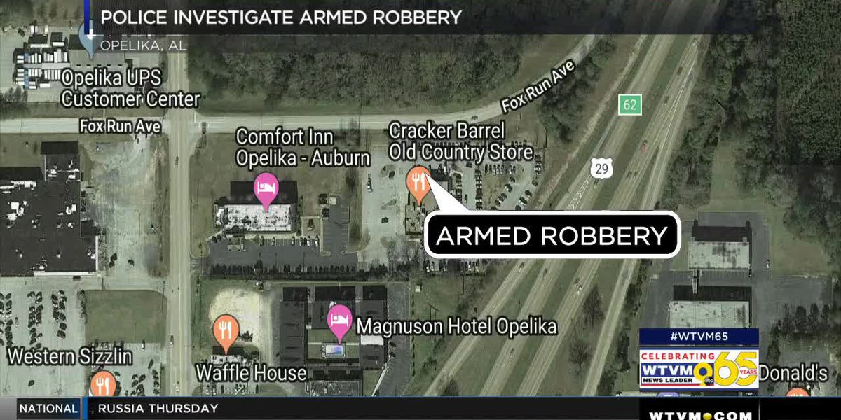 Opelika police investigating armed robbery in Cracker Barrel parking lot