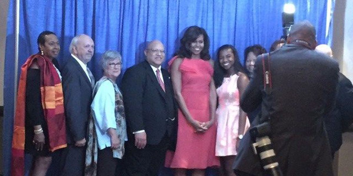 Columbus girl's artwork presented to First Lady Michelle Obama