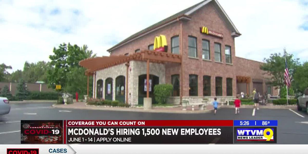 McDonald's hiring 1,500 employees in middle and south Ga., holding hiring event
