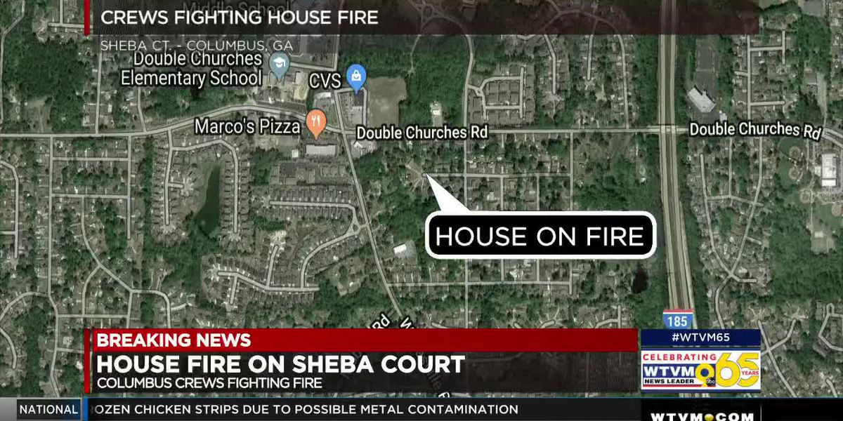Columbus fire crews on the scene of house fire on Sheba Court