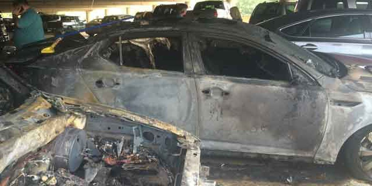 UPDATE: 2 cars involved in Downtown Columbus parking deck fire; no injuries