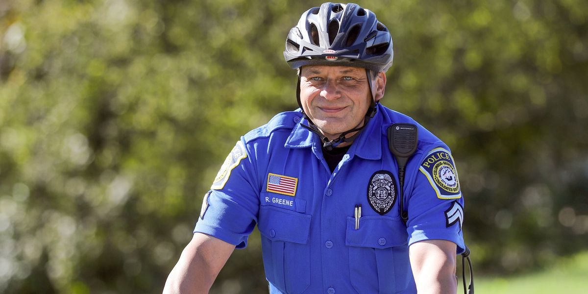 Columbus police officer recognized for commitment to bike safety