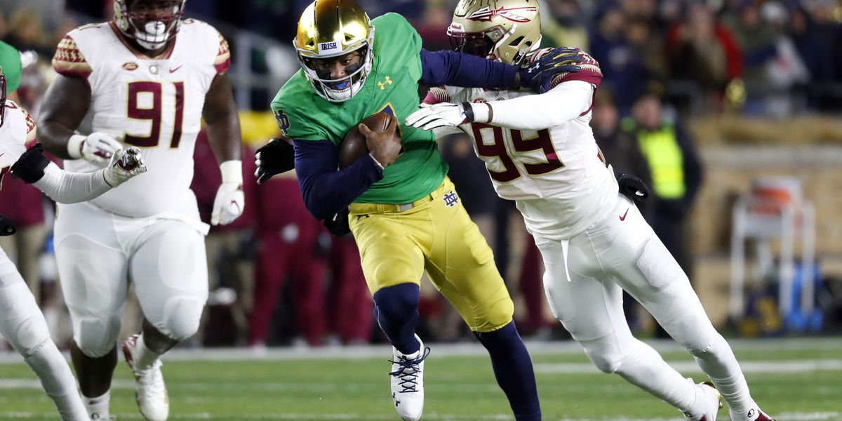 Backup QB Wimbush, defense help No. 3 Irish dominate FSU