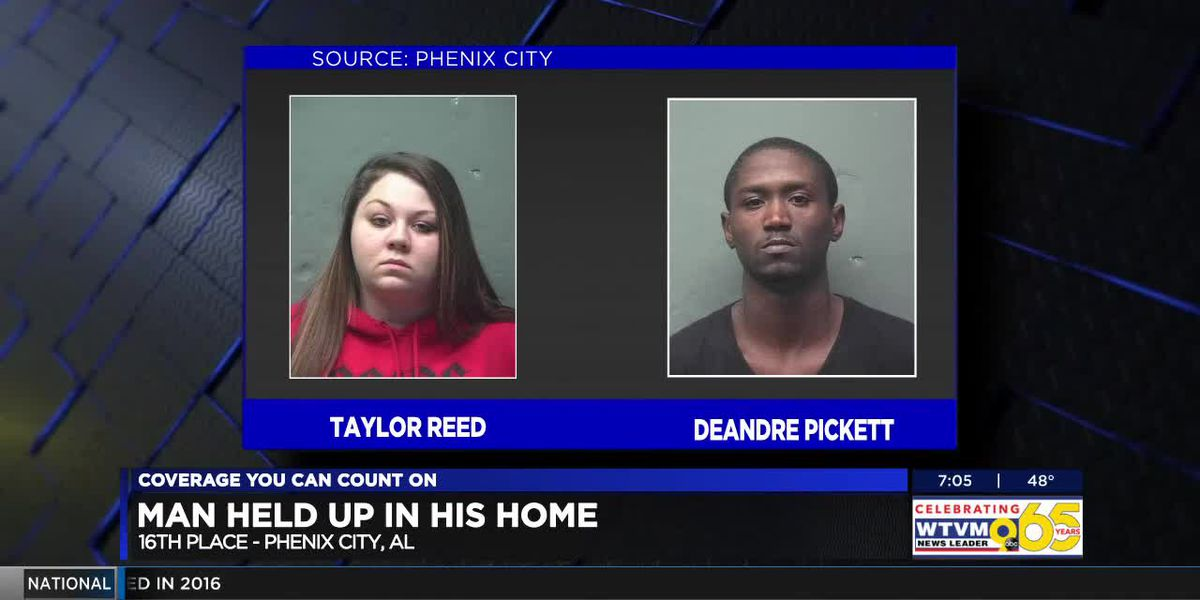 Phenix City police arrest two of three people wanted for armed robbery on 16th Place