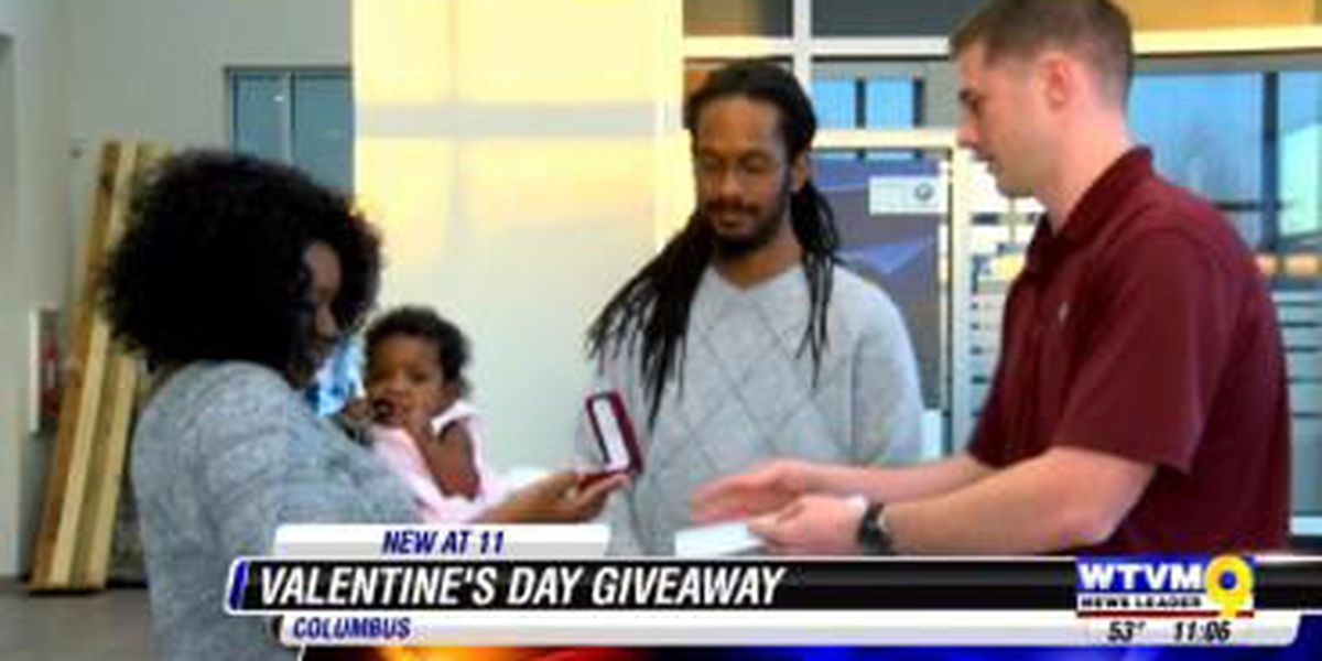 Lucky couple wins Valentine's Day dream date