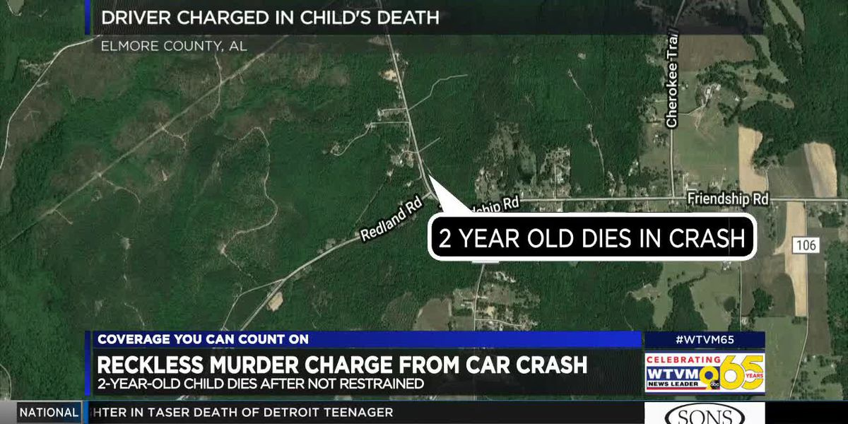 Opelika man charged with murder in Elmore Co. crash that killed 2-year-old
