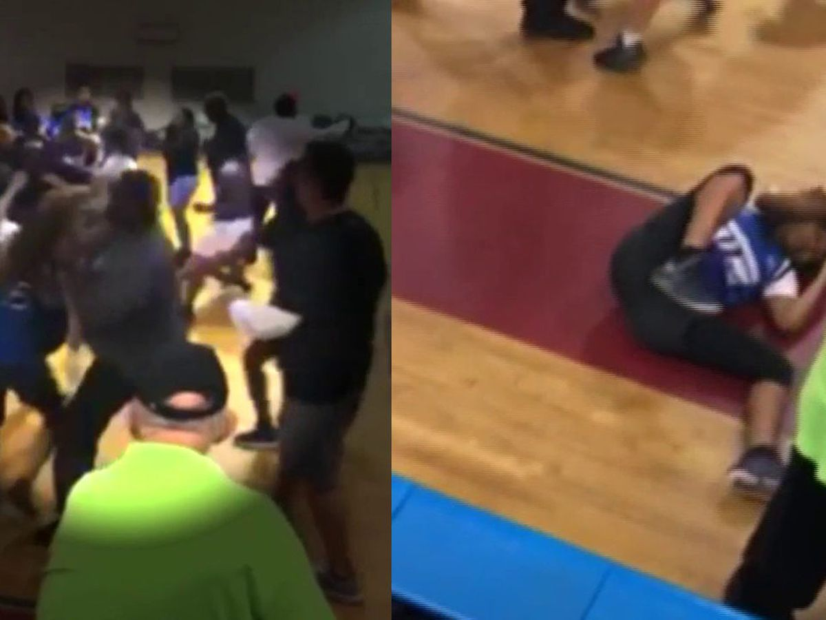 CAUGHT ON CAMERA: Adult punches teen in the face during brawl in Florida