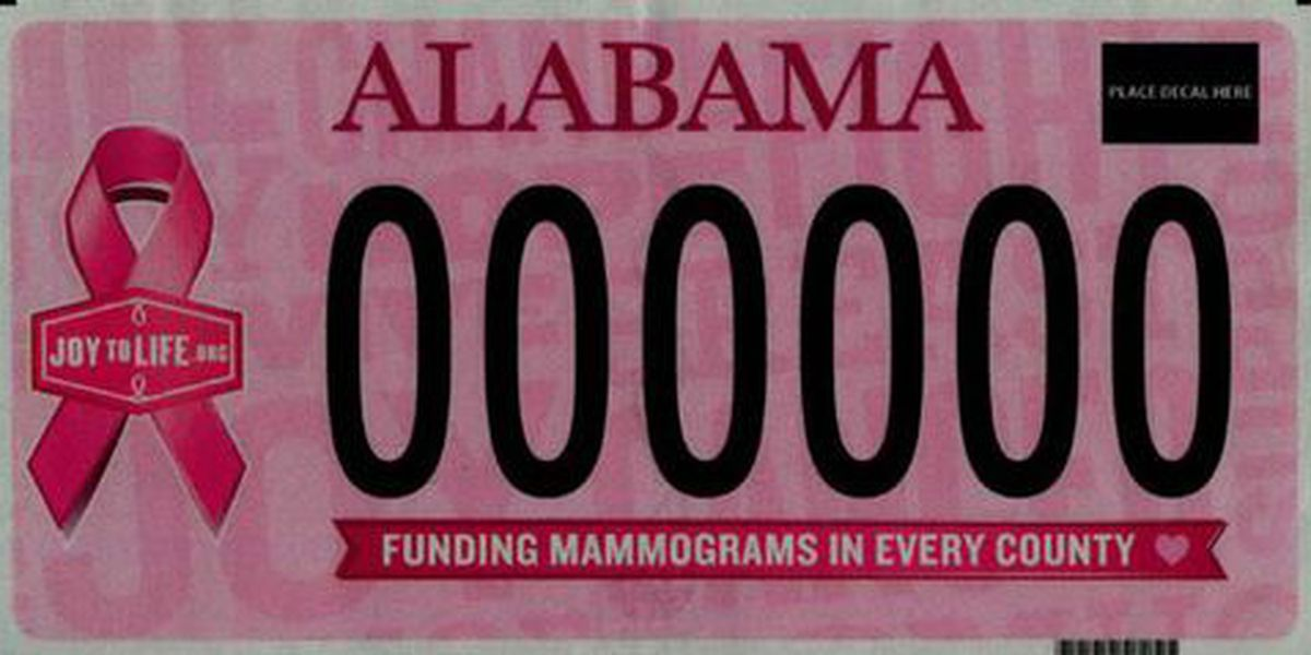 Alabama is getting 3 new license plates and redesigning others