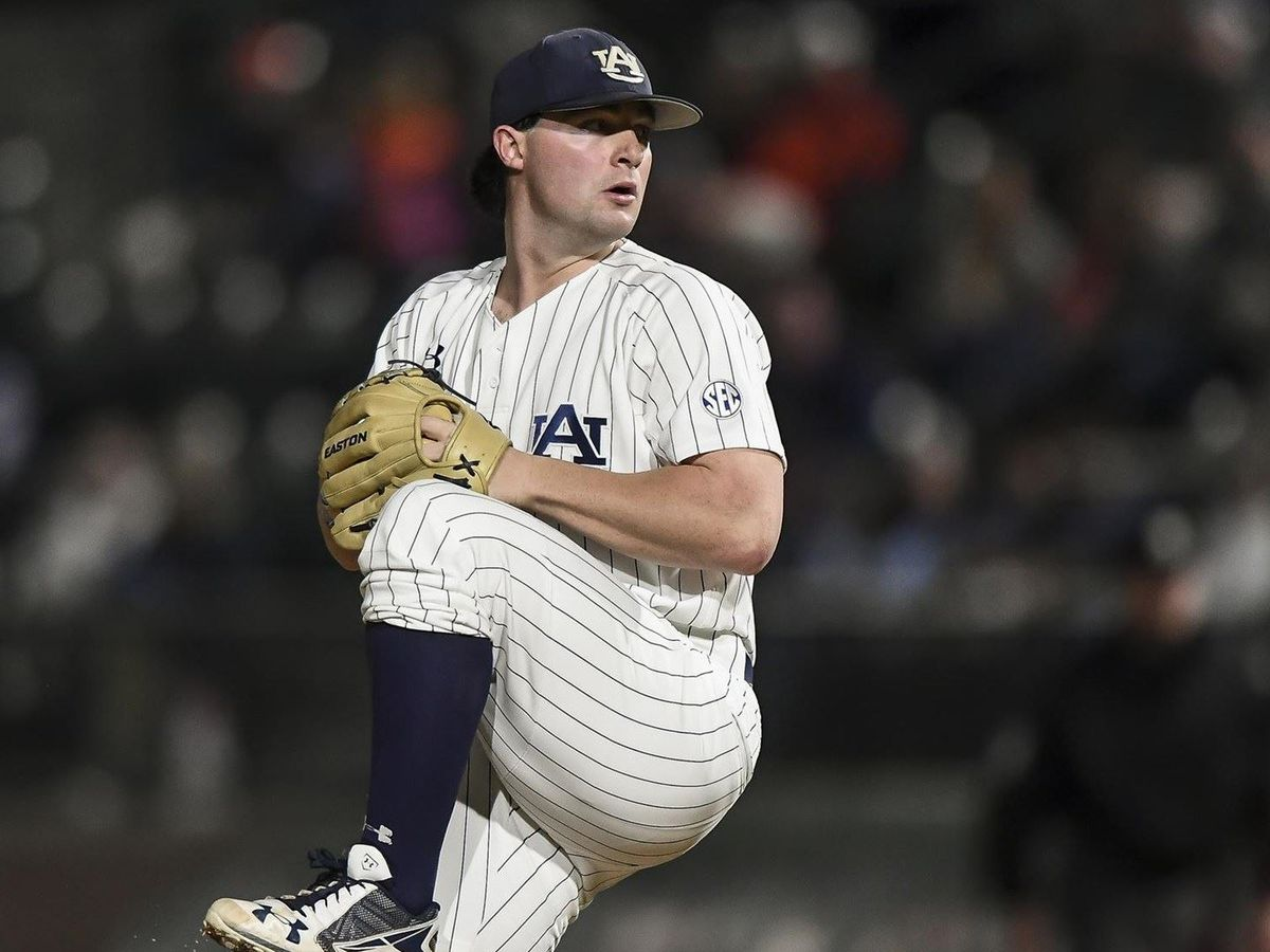 Auburn pitcher Tanner Burns selected in 1st round of MLB Draft