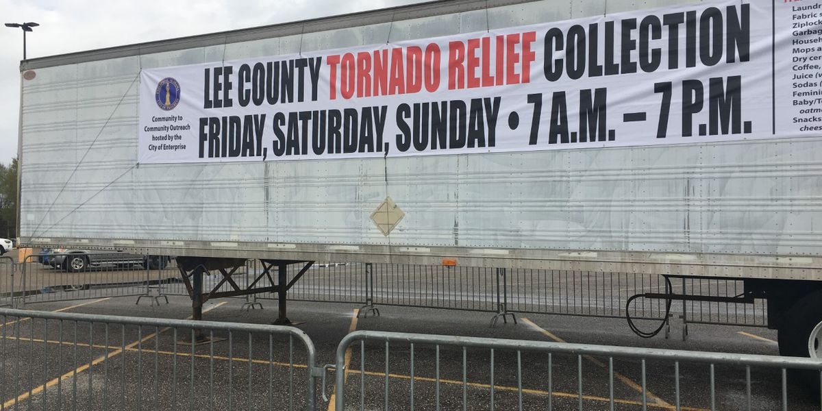 Enterprise collecting donations for Lee County tornado victims