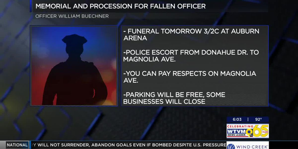 Funeral service announced for fallen Auburn police officer