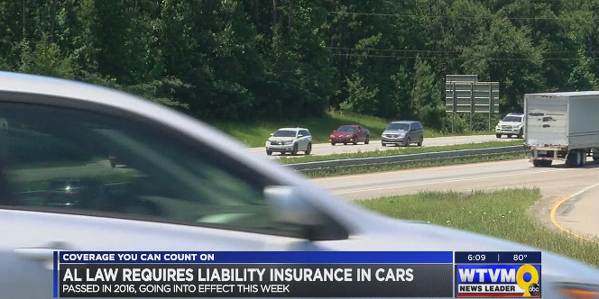 AL liability insurance in cars goes into effect