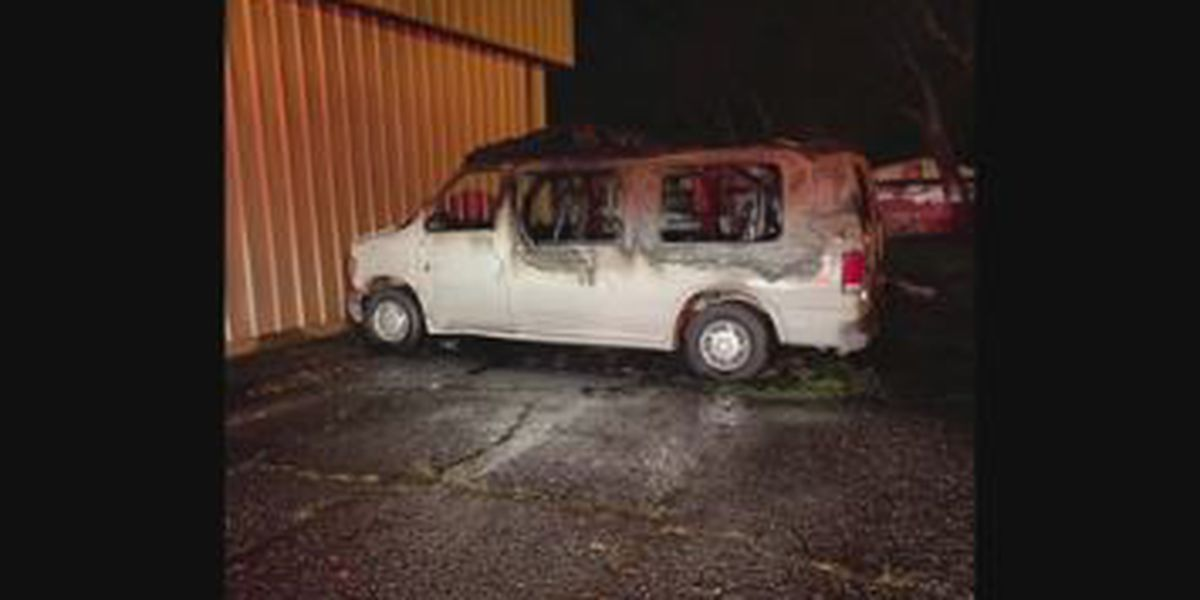 Columbus church looking for answers after ministry van engulfed by fire