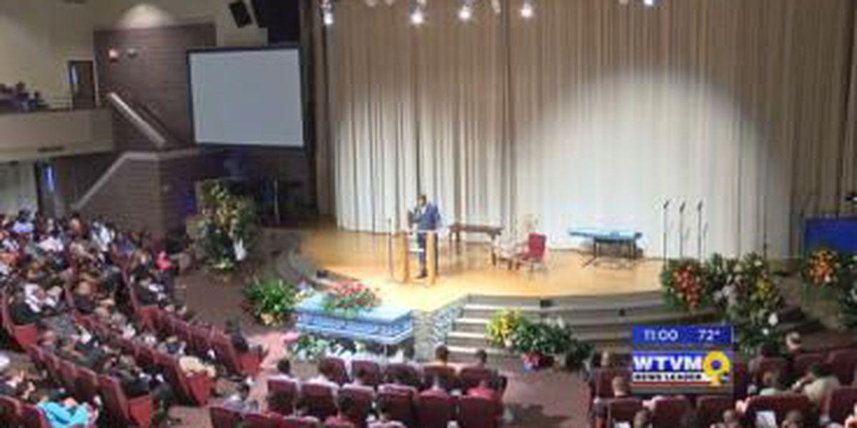 Large crowd mourns, remembers teacher, coach David Pollard at Sunday funeral