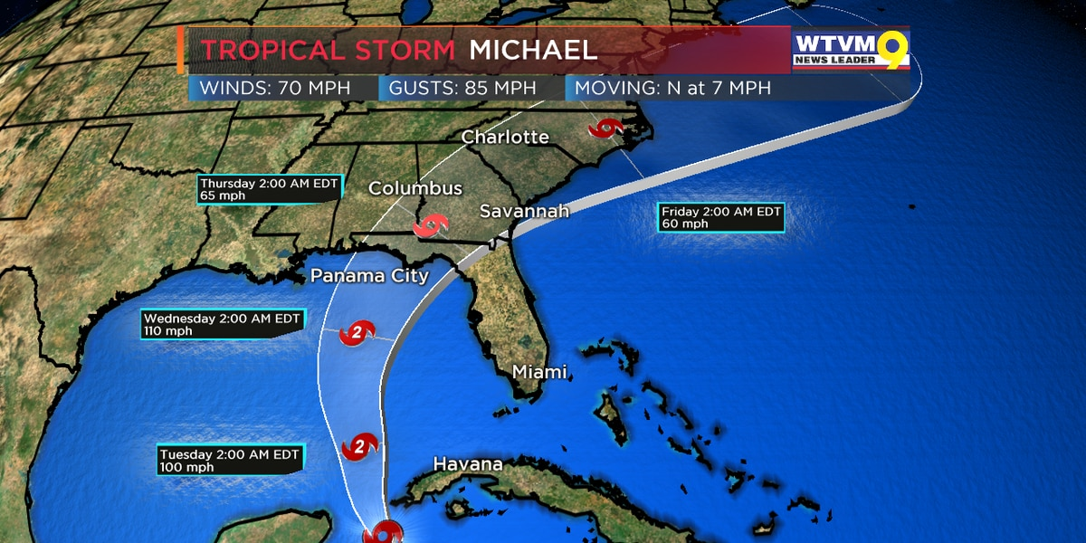 Moving Hurricane Michael menaces Florida Panhandle