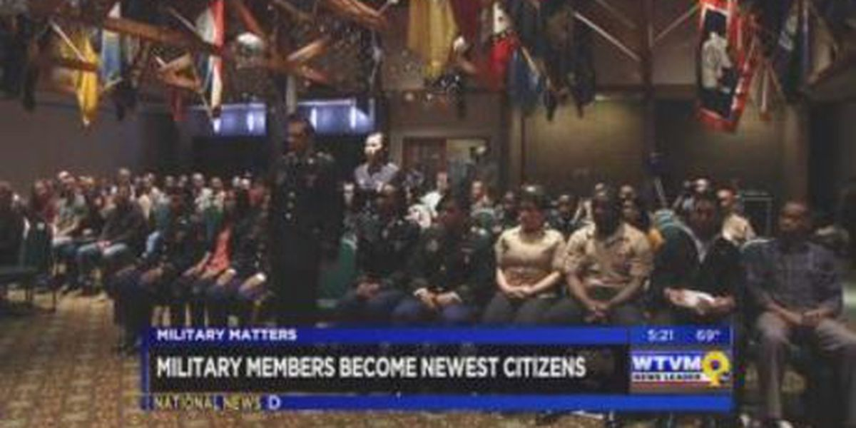 Military Matters: Military members become citizens