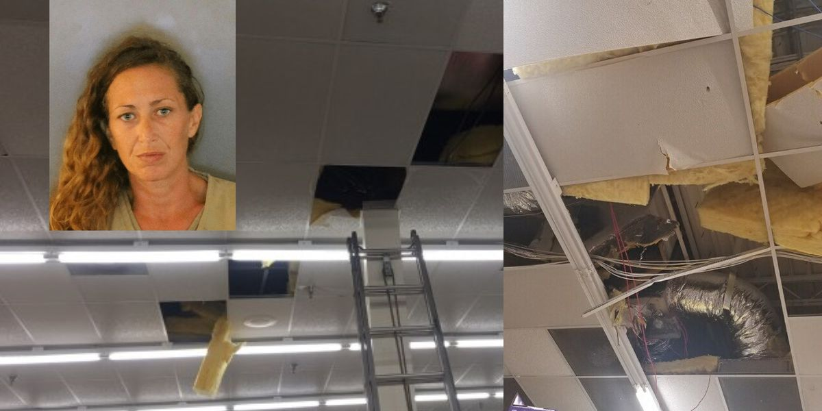 Deputies: Florida woman hides in store's ceiling for six hours to try to avoid shoplifting arrest