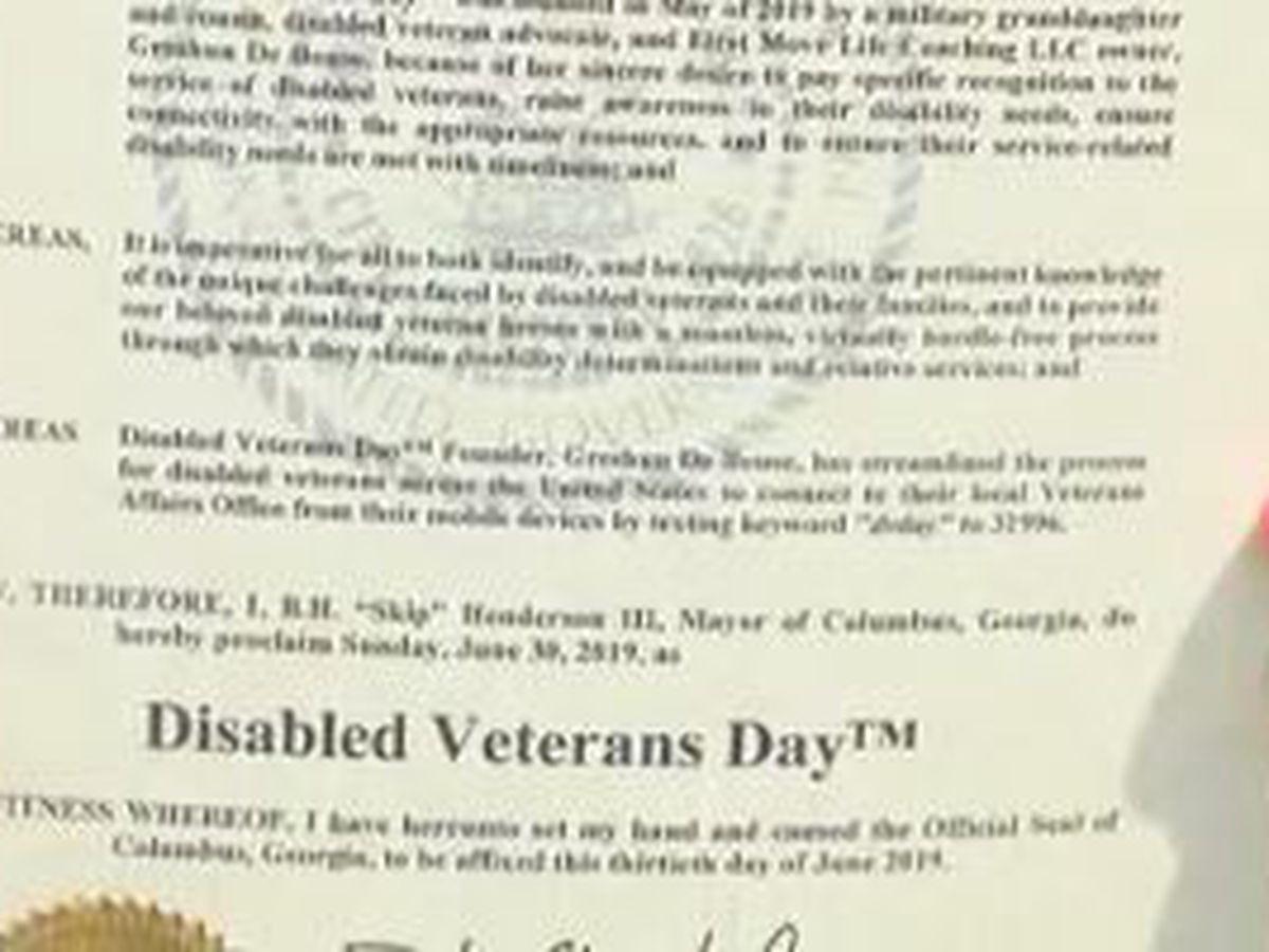 Disabled Veterans Day to be observed June 30th in Columbus