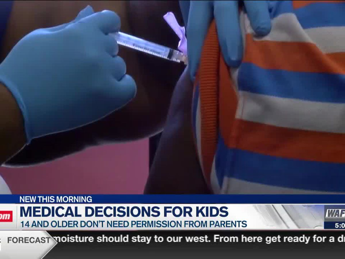 Alabama law says kids 14 and older don't need parent permission to get COVID vaccine