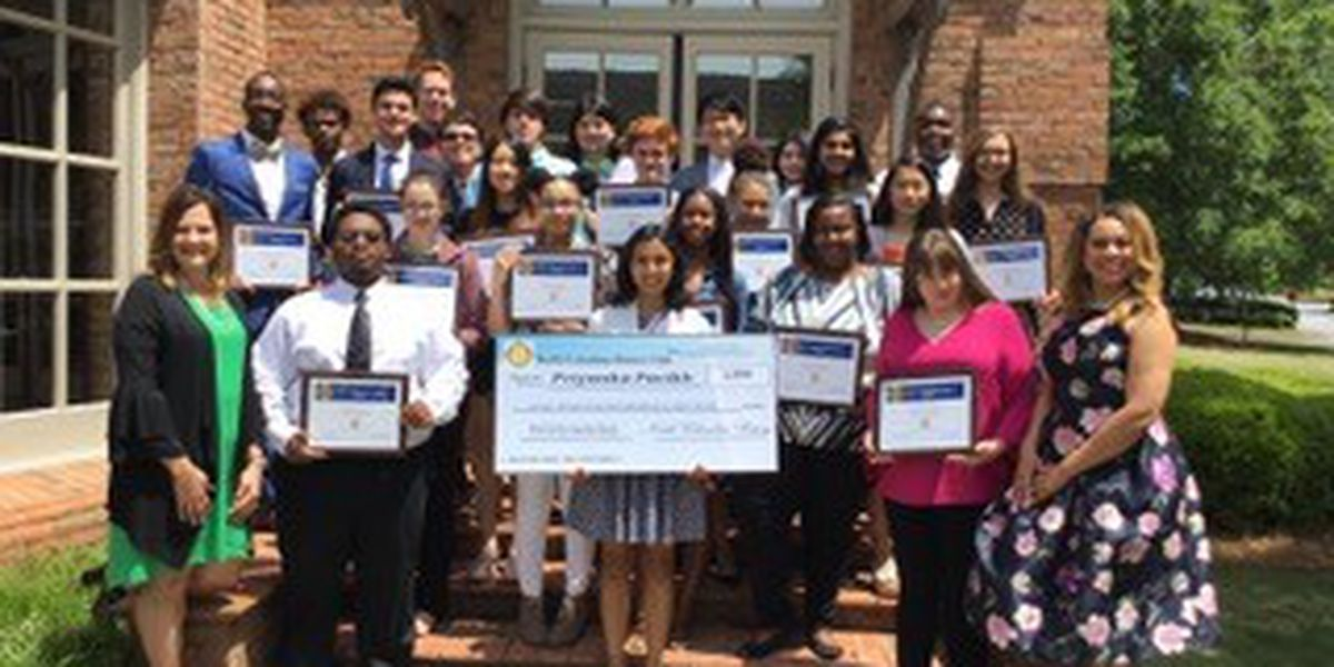North Columbus Rotary Club honors students who scored highest on SAT exam