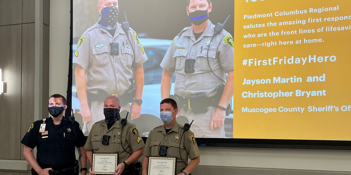 Sheriff's deputies recognized for quick thinking during a Columbus fire