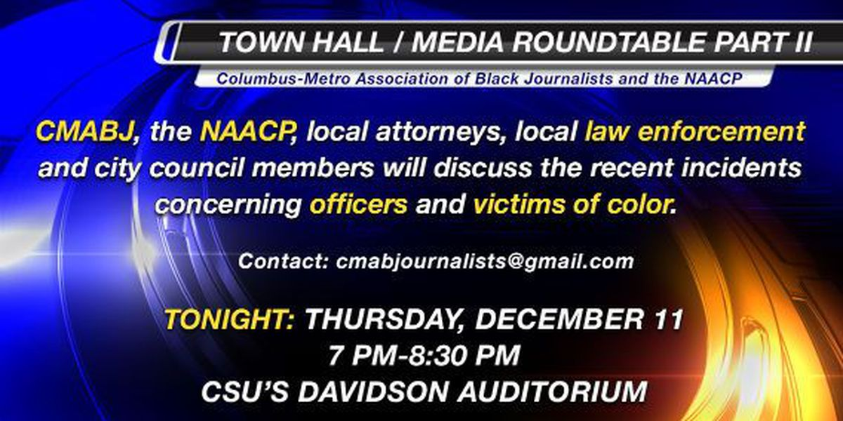 CMABJ, NAACP's second roundtable on officer-involved shootings Thursday night
