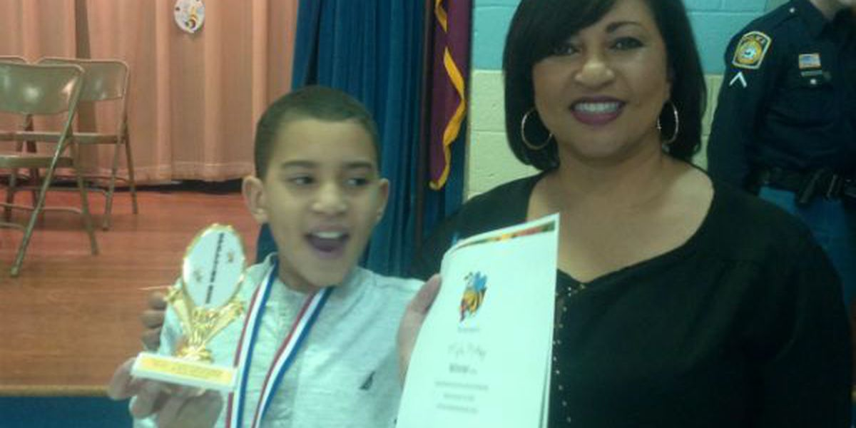 Barbara visits Forrest Road Elementary's Spelling Bee!