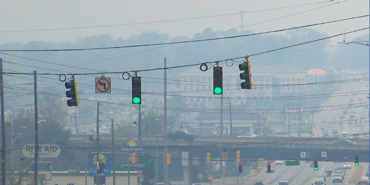 Where is all the smoke coming from around the Chattahoochee Valley?