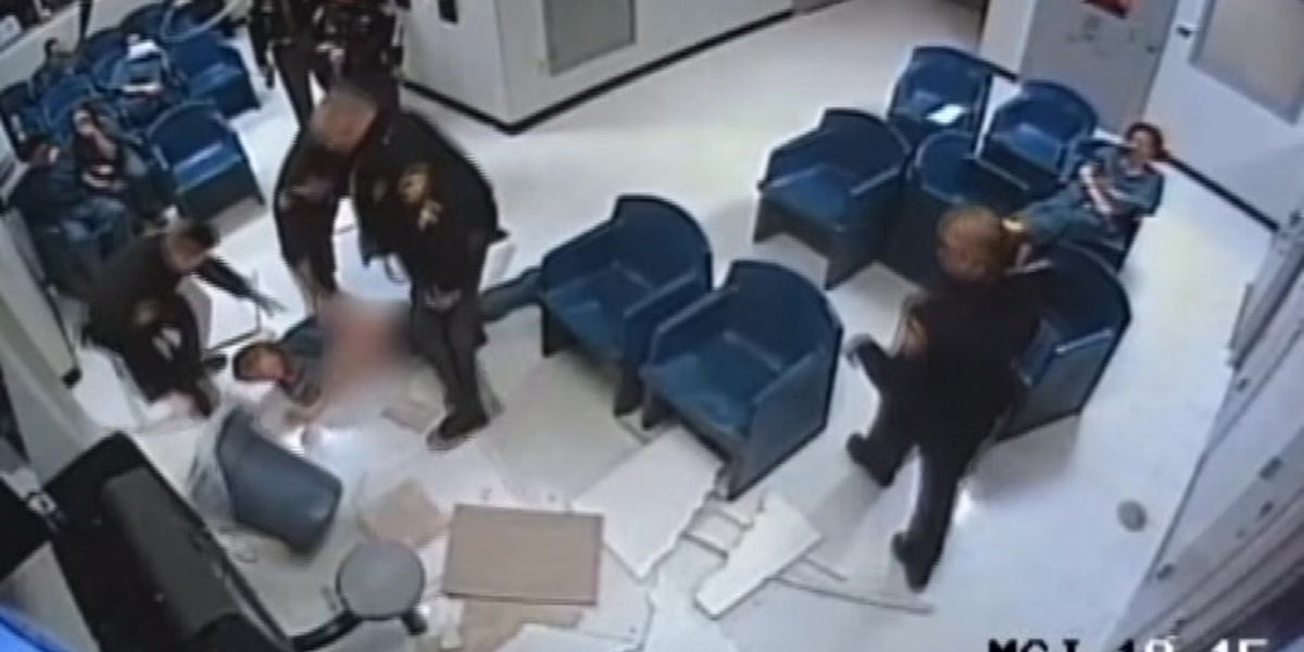 Jail fail: Woman caught on camera falling through ceiling during escape attempt