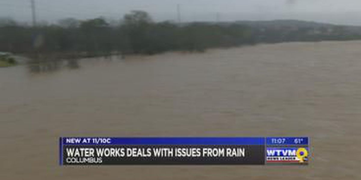Columbus Water Works deals with area flooding following heavy rains