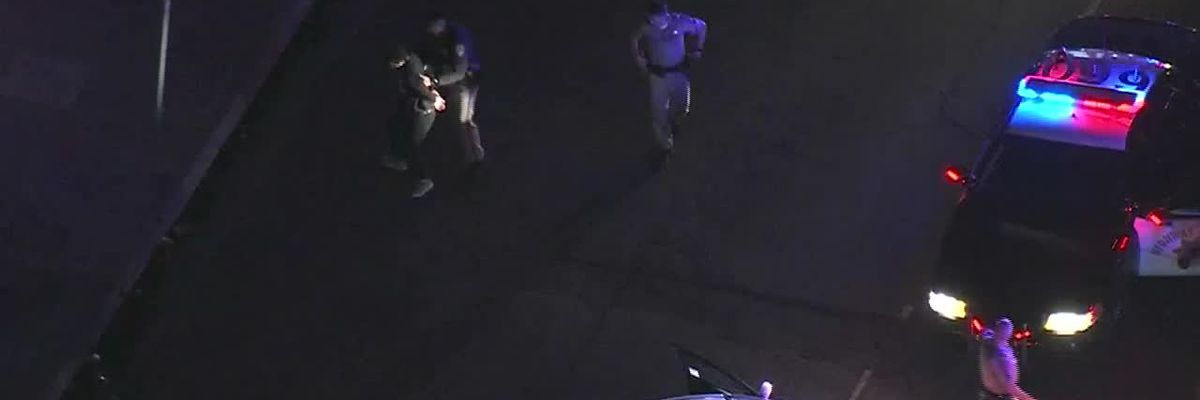 Low-speed chase ends in suspect breakdancing