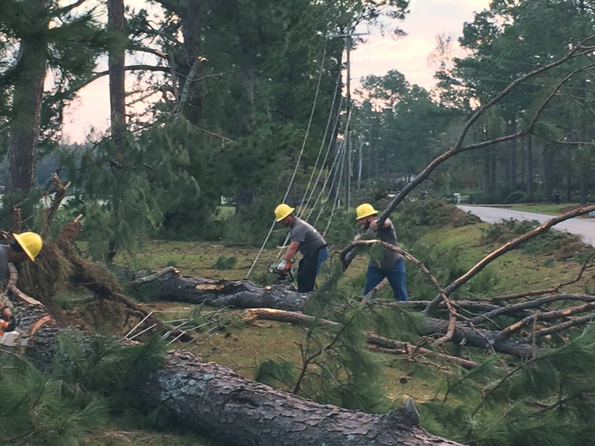LaGrange electric crews assisting with power restoration in Blakely,GA following Hurricane Michael